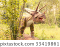 Triceratops dinosaur in a forest 33419861