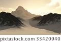 Distant Lonely Mountain Peak 33420940