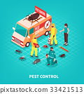 Pest Control Isometric Illustration 33421513