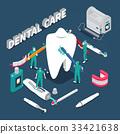 Dental Care Isometric Vector Illustration  33421638