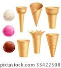 ice, cone, vector 33422508