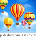 Hot Air Balloons Background 33422510
