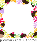 Birthday Frame With Cupcake 33422759