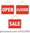 Open And Closed Signs 33422900