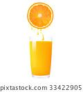 柑橘 玻璃 果汁 33422905