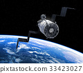 Flight Of Space Station In Outer Space 33423027