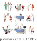 Doctor And Patient Flat Icons Set 33423917