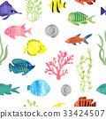 fish, pattern, watercolor 33424507
