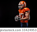 American football sportsman player 33424953