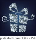 Gift present made up a lot of diamonds  33425354