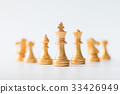 Gold Chess on chess board game for business  33426949