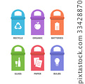 Recycle waste bins vector illustration 33428870