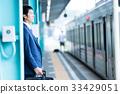 사업가, 전철, 홈, 영업 촬영 협조 : 게이오 전철 주식회사 33429051