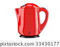 Modern red electric kettle 33430177