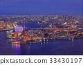 osaka, evening scene, town areas 33430197