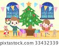 cartoon people with christmas 33432339