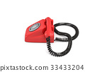 3d rendering of an old-fashioned rotary phone 33433204