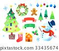 矢量 聖誕時節 聖誕節 33435674