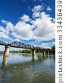 Bridge River Kwai with sky in Kanchanaburi 33436439