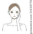 acne, female, lady 33439770