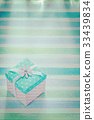 Vintage square gift box on colored background 33439834