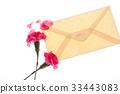 감사, 꽃, 봉투 33443083