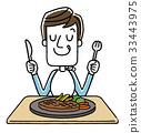 남성 : 식사, 잔치 33443975