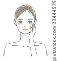 Face aging illustration 33444575