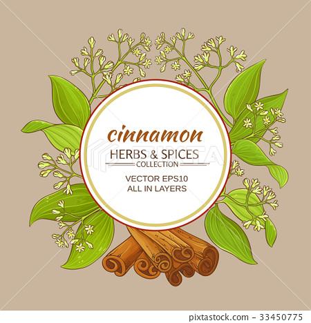 cinnamon vector frame 33450775