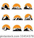 logo, mountain, vector 33454378