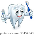 Tooth Mascot Cartoon Character 33454843