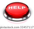 Red round Help button 33457117