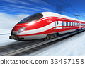 Winter high speed train 33457158