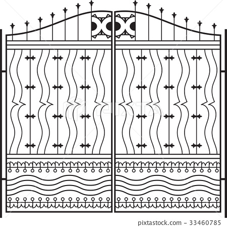 Wrought Iron Gate, Door, Grill, Railing Design 33460785