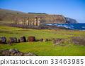 Moais statues, ahu Tongariki, easter island 33463985