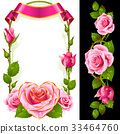 pink rose vector 33464760