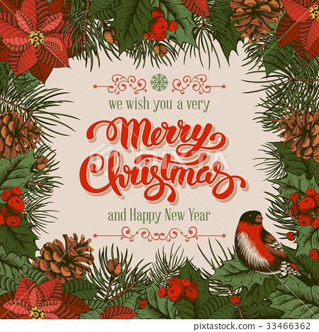 Merry Christmas card 33466362