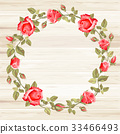 Wreath from rose 33466493