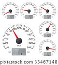 speedometer, vector, gauge 33467148