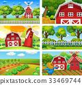 scene, farm, countryside 33469744