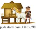 hut, cabin, woman 33469799
