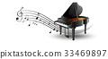 music, instrument, piano 33469897