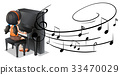 piano, music, notes 33470029