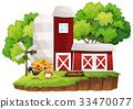 scene, barn, farm 33470077