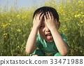 어린이, 표정, 혀 33471988