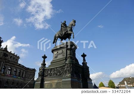 德累斯頓薩克森國王約翰騎馬雕像 33472204