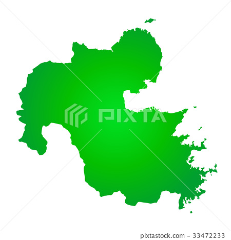 oita prefecture map oita prefecture very Stock Illustration