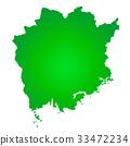 okayama prefecture map, okayama, map 33472234