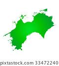 shikoku, map, maps 33472240