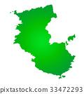 wakayama prefecture map, wakayama prefecture, map 33472293